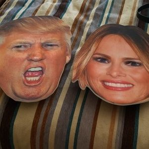 Donald and melania trumps face costume